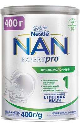Смесь молочная NAN Кисломолочный 1, с рождения, 400 г