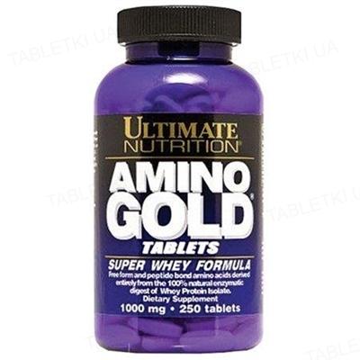 Аминокислоты Ultimate Nutrition Amino Gold 1000 мг, 250 капсул