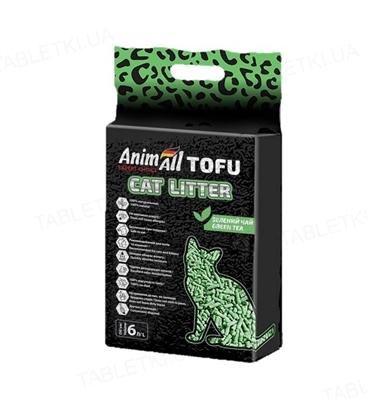 Наполнитель для туалета AnimAll ТОФУ с ароматом зеленого чая, 2.6 кг (6 л)