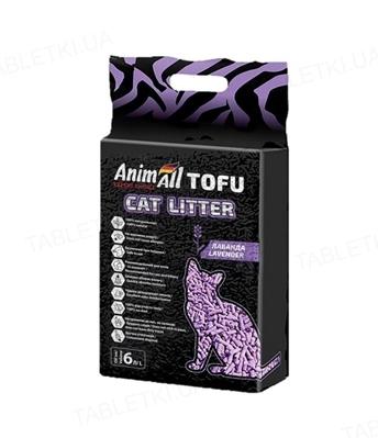 Наполнитель для туалета AnimAll ТОФУ с ароматом лаванды, 2,6 кг (6 л)