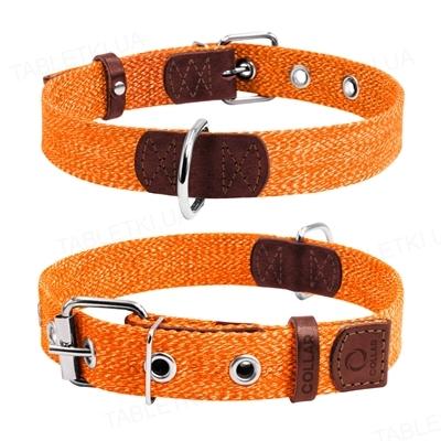 Ошейник Collar из хлопчатобумажной ленты, ширина 25 мм, длина 41-53 см, оранжевый