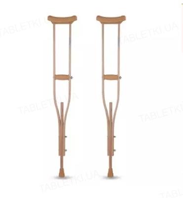 Костыли подмышечные Рыпор деревянные для взрослых, 2 штуки