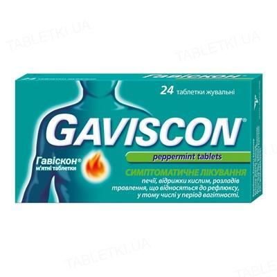 Гавіскон м'ятні таблетки таблетки жув. №24 (8х3)