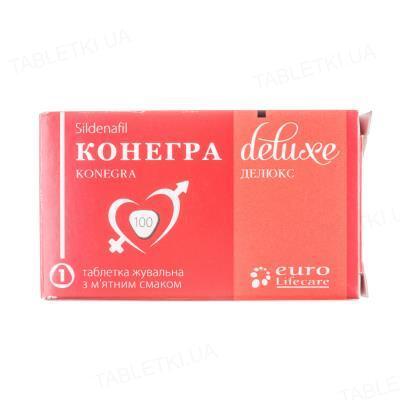 Конегра делюкс таблетки жув. по 100 мг №1 у бліс.