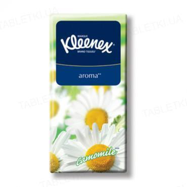 Хусточки паперові Kleenex з ароматом ромашки №10