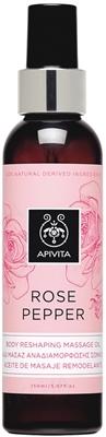 Масло для тела Apivita Роза и перец Корректирующее массажное, 150 мл