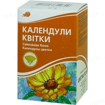 Календулы цветы цельные по 50 г в пач. с внут. пак.