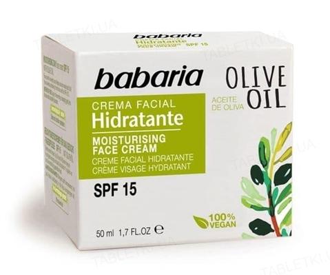Крем для обличчя Babaria олія Оливи SPF15 зволожуючий, 50 мл