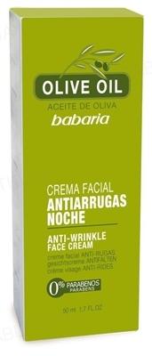 Крем для обличчя Babaria олія Оливи проти зморшок, 50 мл