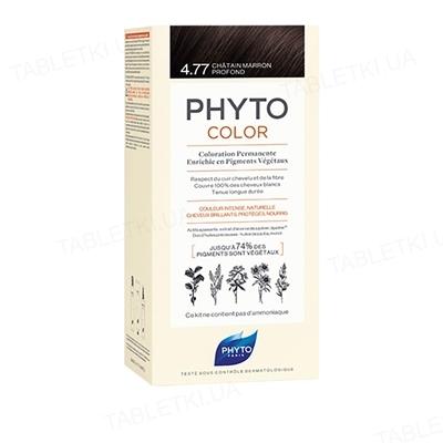 Крем-краска Phyto Phytocolor, тон 4.77 шатен темный каштановый, 60 мл + 40 мл