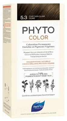 Крем-краска Phyto Phytocolor, тон 5.3 светлый шатен золотистый, 60 мл + 40 мл