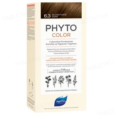 Крем-краска Phyto Phytocolor, тон 6.3 темно-русый золотистый, 60 мл + 40 мл