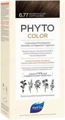 Крем-краска Phyto Phytocolor, тон 6.77 светло-каштановый капучино, 60 мл + 40 мл