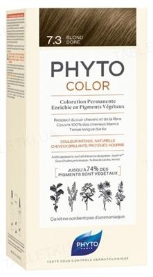 Крем-краска Phyto Phytocolor, тон 7.3 золотисто-русый, 60 мл + 40 мл