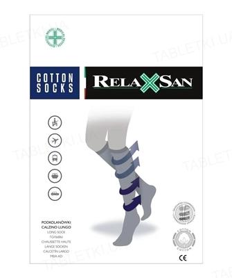 Гольфы компрессионные мужские Relaxsan Cotton Socks хлопок 140 den, компрессия 18-22, цвет черный, размер 2