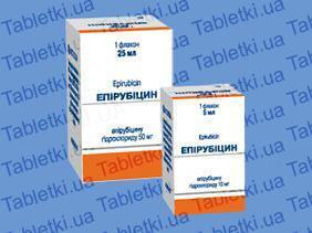 Эпирубицин раствор д/ин. 2 мг/мл по 5 мл №1 во флак.