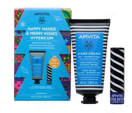 Набор Apivita Зверобой зимний уход для рук и губ