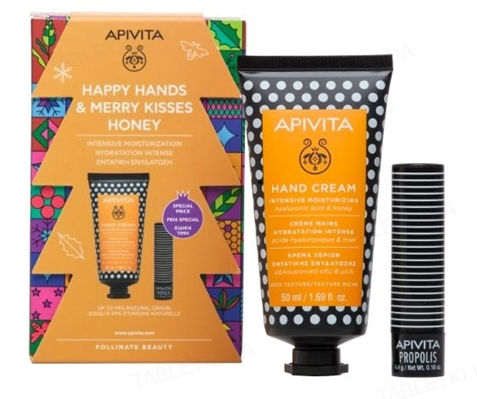 Набор Apivita Мед зимний уход для рук и губ