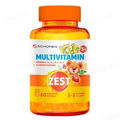 Зест Кидс Мультивитамин пастилки жевательные №60