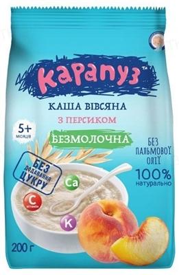 Безмолочная каша Карапуз Овсяная с персиком для детей с 5 месяцев, 200 г