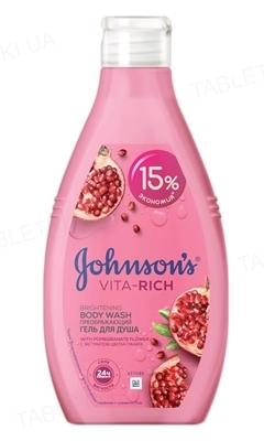 Гель для душа Johnson's Body Care Vita-Rich преображающий с экстрактом цветка граната, 750 мл