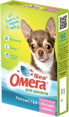 Омега Нео+ витамины для щенков Веселый малыш с пребиотиком, 60 таблеток