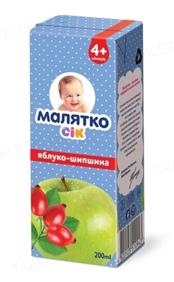 Сок Малятко Яблочно-шиповниковый, 200 г