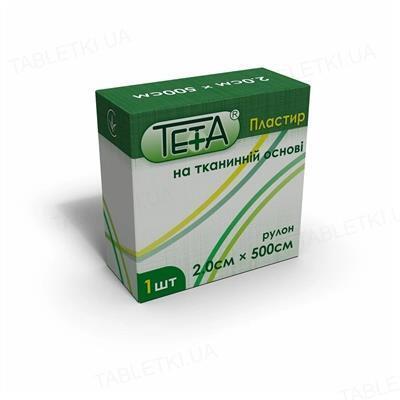 Пластырь медицинский Teta на тканевой основе, катушка, 2 х 500 см, 1 штука