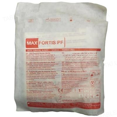 Перчатки хирургические Max fortis pf латексные без пудры, размер 7,5 стерильные, пара