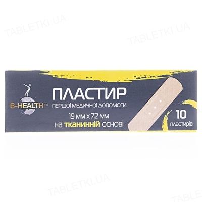 Набор пластырей B-Health бактерицидных на тканевой основе, 1,9 см х 7,2 см, 10 штук