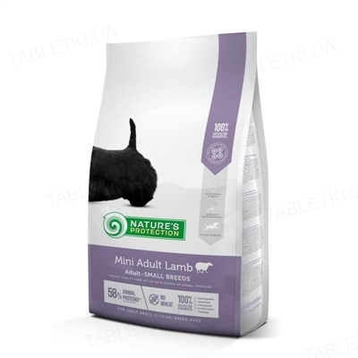 Корм сухой Nature's Protection Mini Adult Lamb для собак для мелких пород с ягненком, 2 кг