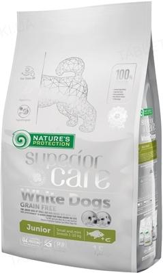 Корм сухой Nature's Protection Superior Care White Dogs Grain Free Junior Small and Mini Breeds для щенков, 1,5 кг