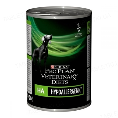 Корм влажный Purina Pro Plan Veterinary Diets HA диетический для щенков и взрослых собак, 400 г