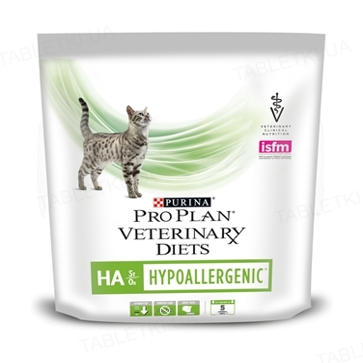 Корм сухой Purina Pro Plan Veterinary Diets HA Hypoallergenic гипоаллергенный для котов, 325 г