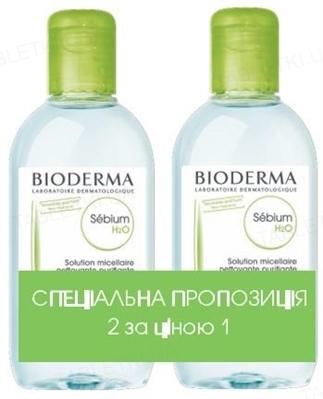 Набор Bioderma Duo Sebium мицеллярный лосьон, 2 флакона по 250 мл