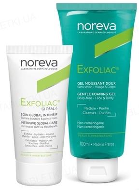Набор Noreva Exfoliac (крем Global 6 30 мл + гель очищающий 100 мл)