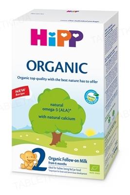 Органическая детская сухая молочная смесь HiPP Organic 2, с 6 месяцев, 300 г