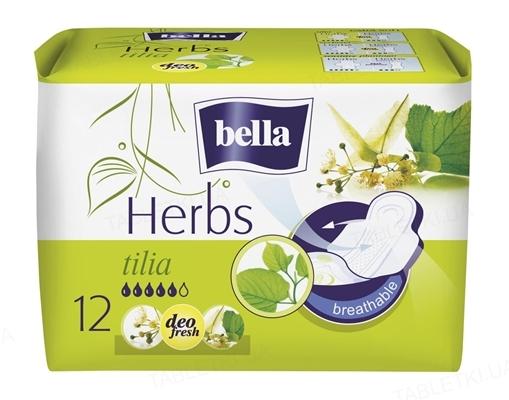 Прокладки гигиенические Bella Herbs tilia, 12 штук