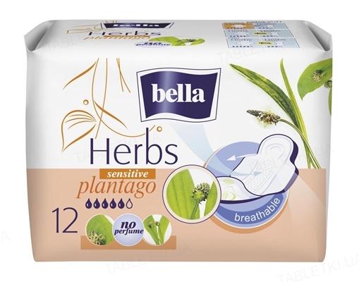 Прокладки гигиенические Bella Herbs sensitive plantago, 12 штук