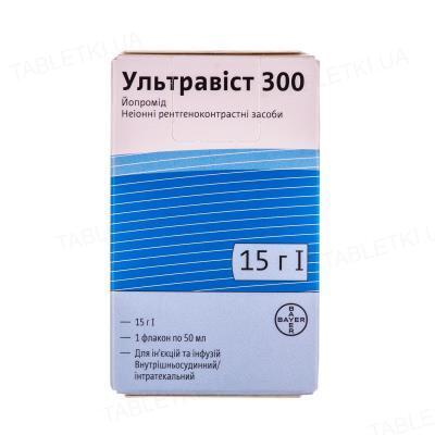 Ультравист 300 раствор д/ин. и инф. 300 мг/мл по 50 мл №1 во флак.