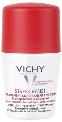 Дезодорант Vichy шариковый интенсивный, «72 часа защиты в стрессовых ситуациях», 50 мл
