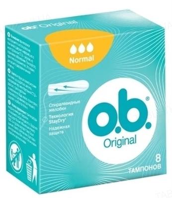 Тампони гігієнічні o.b. Original Normal, 8 штук