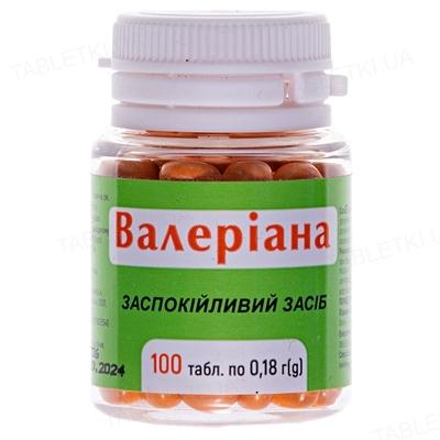 Валериана таблетки по 0.18 г №100 в бан.