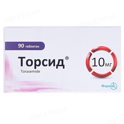 Торсид таблетки по 10 мг №90 (10х9)