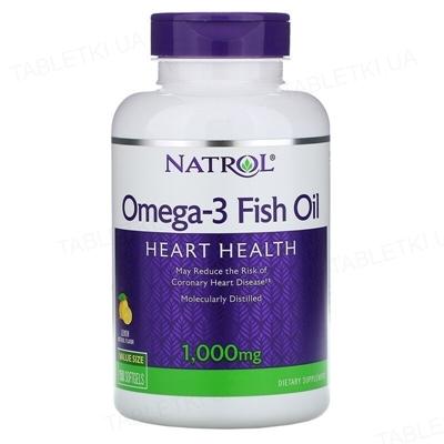 Жирные кислоты Natrol Omega-3 1000 мг 30%, 150 капсул
