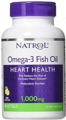 Жирные кислоты Natrol Omega-3 1000 мг 30%, 90 капсул