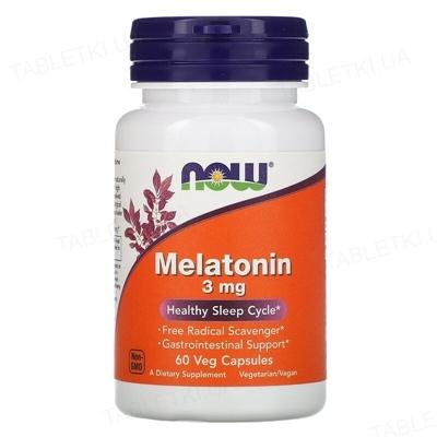 Мелатонин NOW Melatonin 3 мг веганские капсулы №60