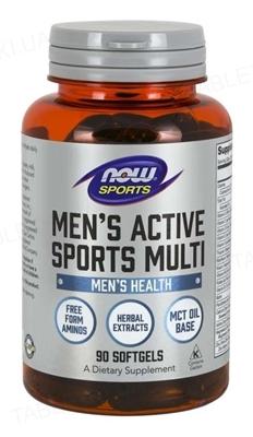 Витамины NOW Men's Active Sports Multi мягкие гелевые капсулы №90