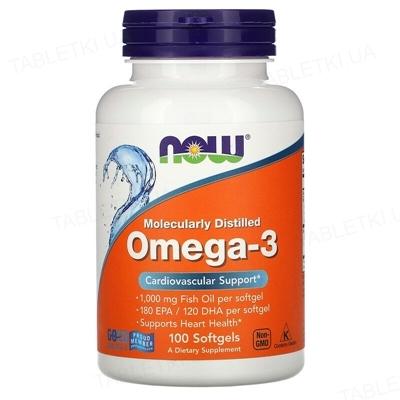 Омега-3 NOW 1000 мг капсули м'які №100
