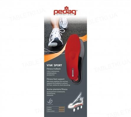 Стелька-супинатор Pedag Viva Sport 181 ортопедические для спорта, размер 39